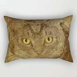 Brown Tabby Rectangular Pillow