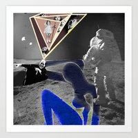 walk the moon Art Prints featuring Moon Walk by AF Knott