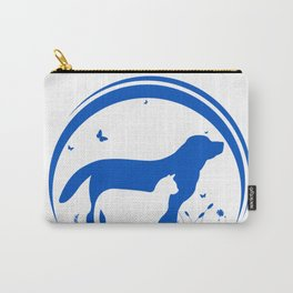Dog and Cat and nature Silhouette Carry-All Pouch