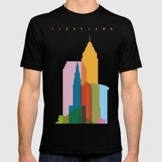 Shapes of Cleveland accurate to scale MEDIUM Black Mens Fitted Tee