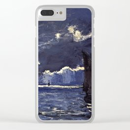 Claude Monet - A Seascape  Shipping By Moonlight Clear iPhone Case