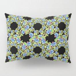 Wild Blueberries Lattice Design Pillow Sham