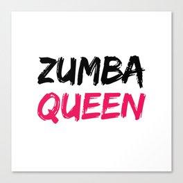 Zumba Queen Canvas Print