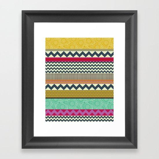 New York Beauty stripe Framed Art Print
