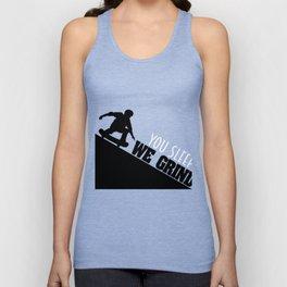 Inspirational Grind Tshirt Design We Grind Unisex Tank Top