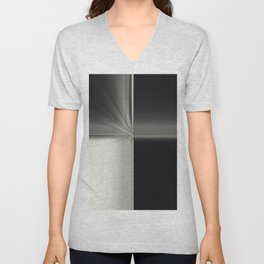 Modern Black White Block Zoom Design Unisex V-Neck