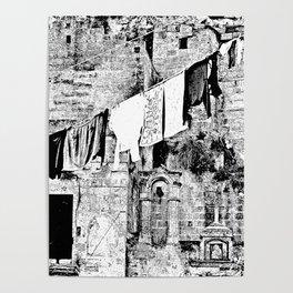 Sassi di Matera: laundry Poster