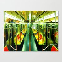subway Canvas Prints featuring Subway  by Ashley White Jacobsen