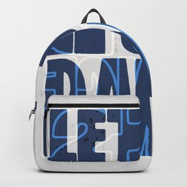 Quote - let's dance Backpack