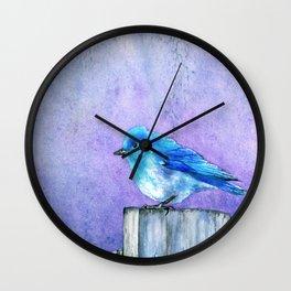 Bluebird Bliss Wall Clock