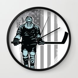 American Lion Hockey Player Wall Clock