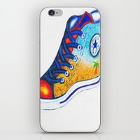 converse iPhone & iPod Skins featuring Converse by Artandphotodreams
