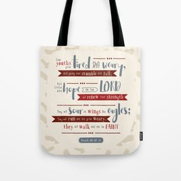 """Hope in the Lord"" Hand-Lettered Bible Verse Tote Bag"