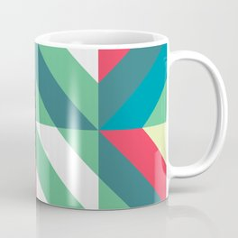 Colorful Shapes Texture, Retro Style, Coffee Mug