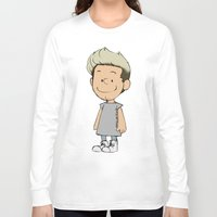 niall Long Sleeve T-shirts featuring Schulz Niall by Ashley R. Guillory