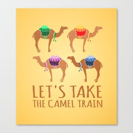 Let's take the Camel Train Canvas Print