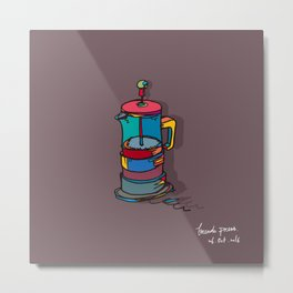 french press Metal Print