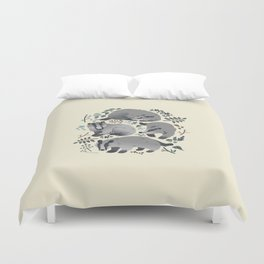 Badgers of the forest Duvet Cover