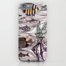 Tropical fish surf school iPhone Case