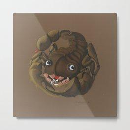 Scorpio (brown) Metal Print