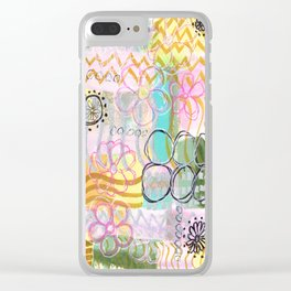 Flowers and Circles and Lines, Oh My! Clear iPhone Case