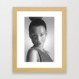 Black and White model Framed Art Print