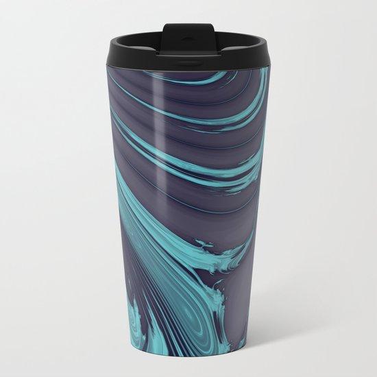 The Blues Abstract Metal Travel Mug