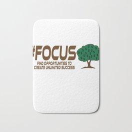 Motivational Focus Tshirt Design Unlimited Success Bath Mat