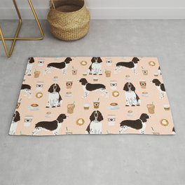 English Springer Spaniel coffee lover dog breed pet portraits custom dog gifts Rug