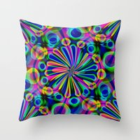 fireworks Throw Pillows featuring Fireworks by Sartoris ART