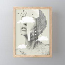 Town Facet Framed Mini Art Print