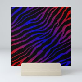 Ripped SpaceTime Stripes - Red/Blue Mini Art Print