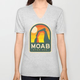 Moab Utah Patch Unisex V-Neck