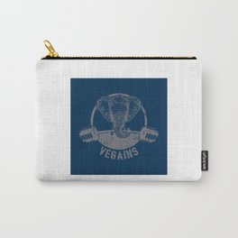 Vegains Vegan Elephant - Funny Veganism Quote Gift Carry-All Pouch