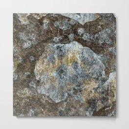 Old stone wall with copper tones Metal Print