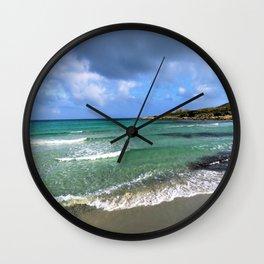green seascape Wall Clock