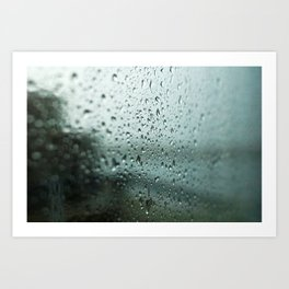 Rain on the Harbour Art Print