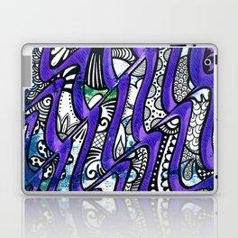 Tangles in the purple waves Laptop & iPad Skin