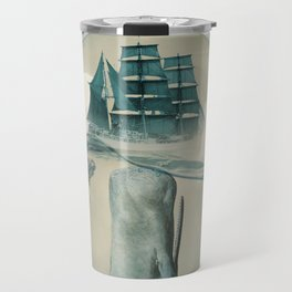 The Battle - Captain Ahab and Moby Dick Travel Mug