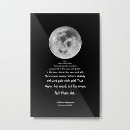 Moon Bridge Shakespeare Metal Print