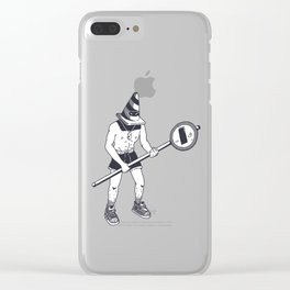 Traffic Warrior Street Style Ink Drawing Clear iPhone Case