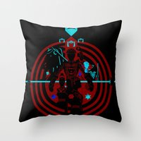 tron Throw Pillows featuring Tron by Florey