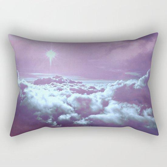 Mystic Clouds Lavender Aqua Rectangular Pillow