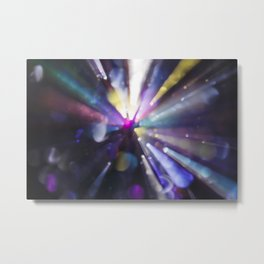 Abstract Bokeh Light Effect Metal Print