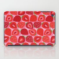 strawberry iPad Cases featuring Strawberry by Helene Michau