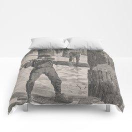 Vintage Illustration of a Lumberjack (1871) Comforters