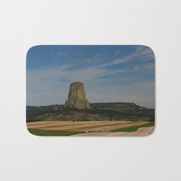 Road To Devils Tower Bath Mat