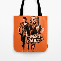 mad max Tote Bags featuring Mad Max by leea1968
