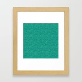 Abstract turquoise green pattern . Framed Art Print