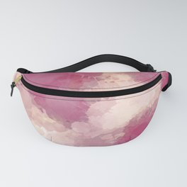 Mauve Dusk Abstract Cloud Design Fanny Pack